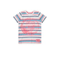 T-shirt Fonzo bright white neon coral
