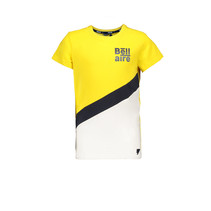 T-shirt KarstB with contrast diagonal parts on front sunshine