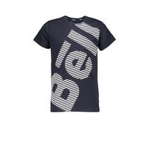 T-shirt KarstB full motive on front panel navy blazer