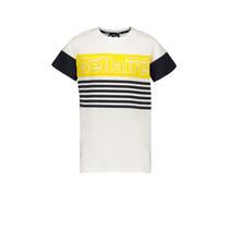 T-shirt KarsC stripe chest print with logo snow white
