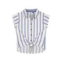 blouse Fayla stone blue stripe