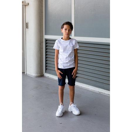 Levv Levv T-shirt Faes white text stripe
