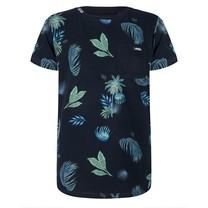 T-shirt palm print dark navy