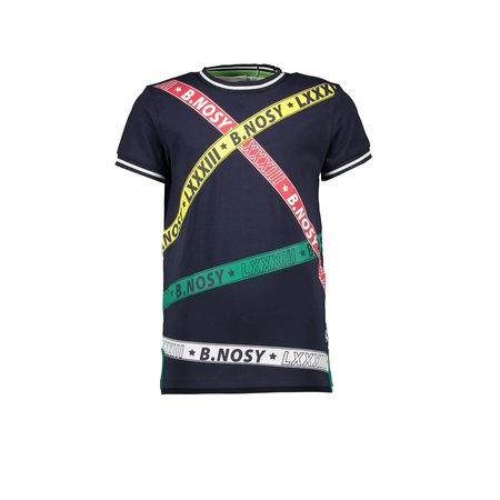 B.Nosy B.Nosy T-shirt with printed B.nosy tapes oxford blue