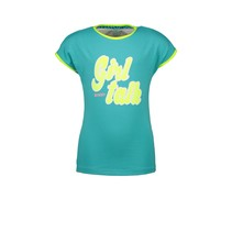 T-shirt with chest artwork and contrast binding ceramic