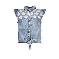 blouse sleeve-less river denim