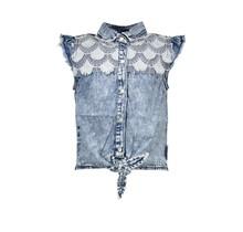 B.Nosy blouse sleeve-less river denim