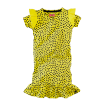 jurk Jolien lovely lemon/leopard