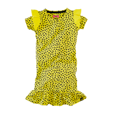 Z8 Z8 jurk Jolien lovely lemon/leopard