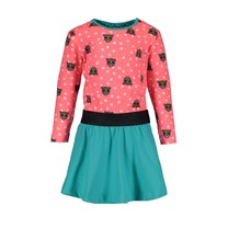 jurk with tiger dots aop top and uni skirt tiger dots