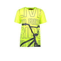 T-shirt BMX safety yellow