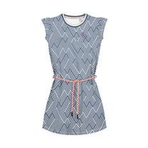 jurk Aafje dark blue zigzag