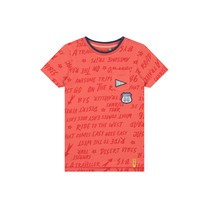 T-shirt Aartjan vintage red text