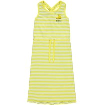 jurk Jazlyn limelight stripes bright white