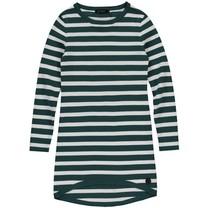 Jurk Babine emerald green stripe