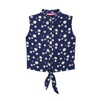 blouse Anisa dark blue flower