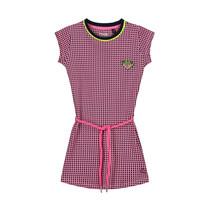jurk Aleeya neon pink retro