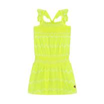 jurk Alisha neon yellow