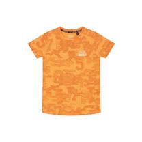 T-shirt Andras neon orange sport