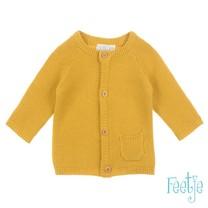 Sample vest gebreid geel - Hello sunshine maat 56