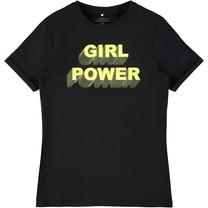 T-shirt Hellen black print limelight