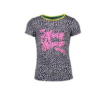 B.Nosy T-shirt with chest artwork and contrast binding dots space blue