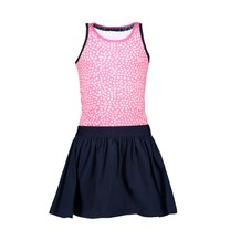 jurkje with dot aop top en uni skirt part dots pink lollypop