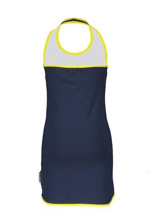 B.Nosy jurkje with dot aop and chest artwork dark blue