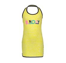 B.Nosy jurkje with dot aop and chest artwork dots lemon