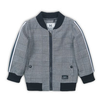 jongens vest black check