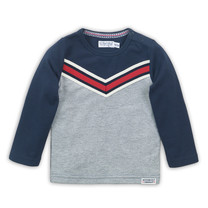 jongens longsleeve grey melee + red + navy