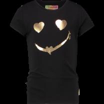 meisjes T-shirt Helaine deep black