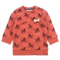 meisjes trui aop brique - Zebra