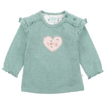meisjes longsleeve Love mint melange - Love Made Me