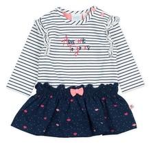 Feetje jurk streep marine - Mon Petit