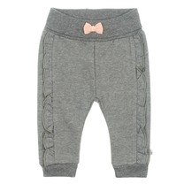 meisjes broek antraciet melange - Little and Loved