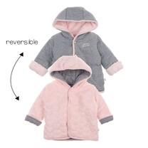 meisjes reversibel jasje met capuchon roze - We Are Family Girls