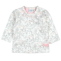 meisjes longsleeve aop offwhite - We Are Family Girls