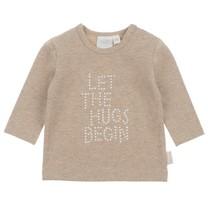 longsleeve hugs zand melange - Happy