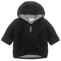 teddy jasje met capuchon zwart - Hello World
