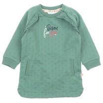 jurk bisou groen - Mon Petit