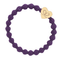 gold heart purple