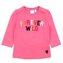 meisjes longsleeve forever wild roze - Animal Attitude