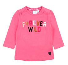 Feetje meisjes longsleeve forever wild roze - Animal Attitude