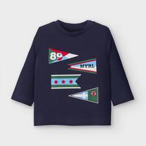 jongens longsleeve flags blue