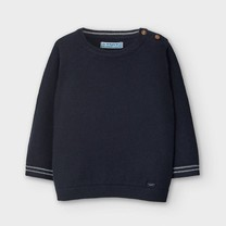 jongens trui basic crew nick navy