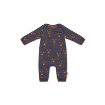 jongens pyjama mid blue + aop