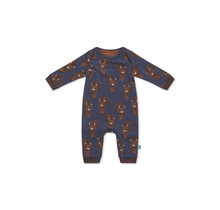 Charlie Choe jongens pyjama mid blue + aop