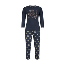 meisjes pyjama homewear set navy + aop