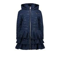 winterjas ruffle raindrops blue navy